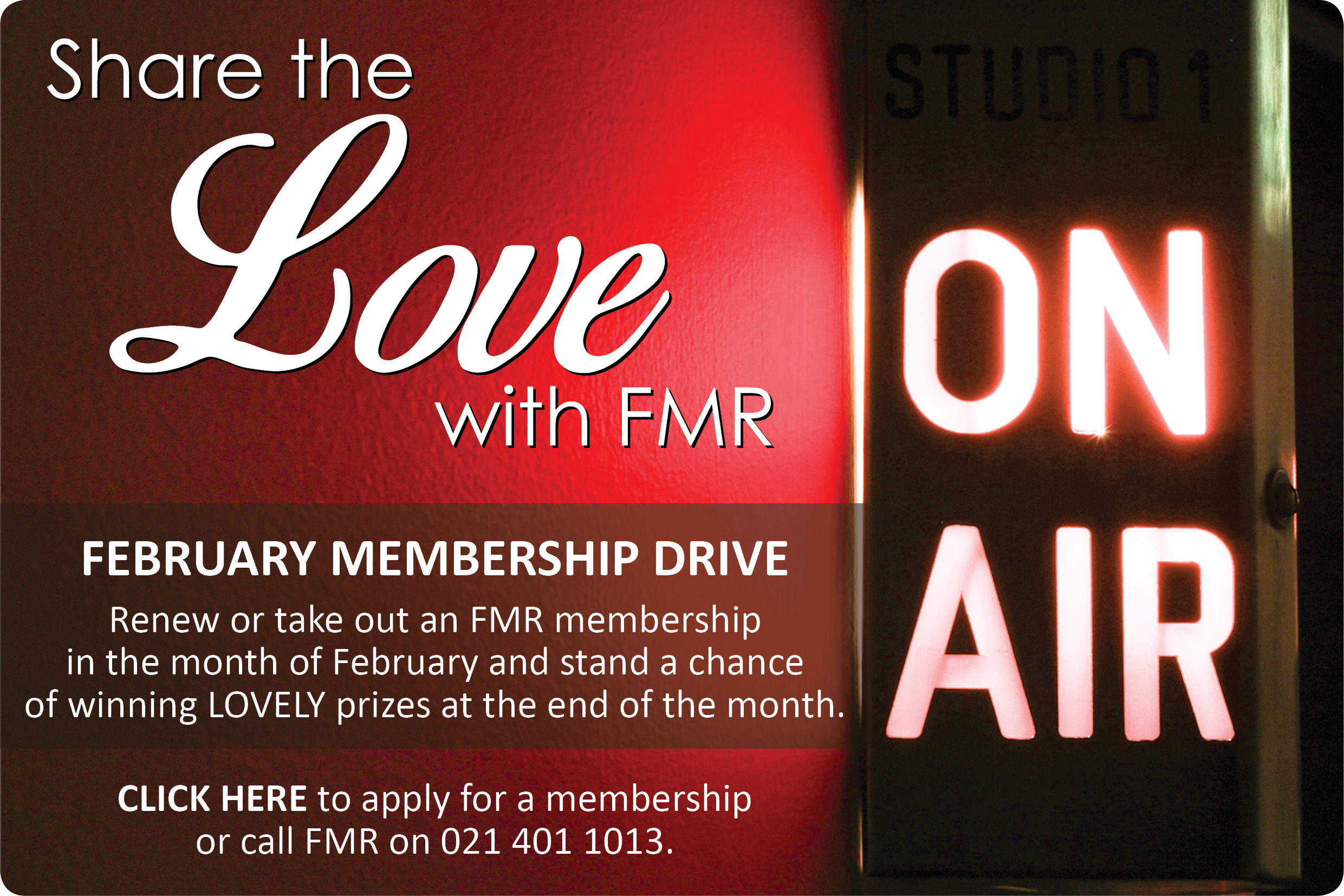 Share the love with FMR Website
