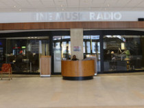 Fine Music Radio in the foyer or Artscape
